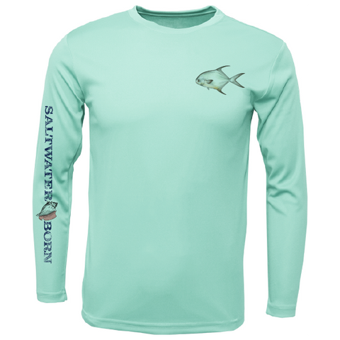 SK Permit on Chest Long Sleeve UPF 50+ Dry-Fit Shirt