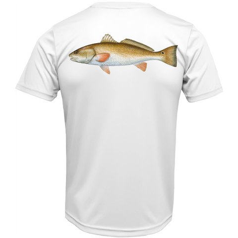 USA Redfish Short Sleeve UPF 50+ Dry-Fit Shirt