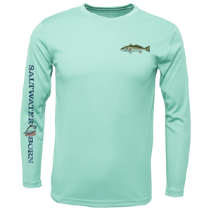 SK Redfish on Chest Long Sleeve UPF 50+ Dry-Fit Shirt