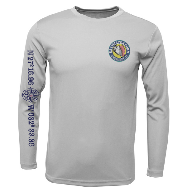 Siesta Key Kraken Boys Long Sleeve UPF 50+ Dry-Fit Shirt