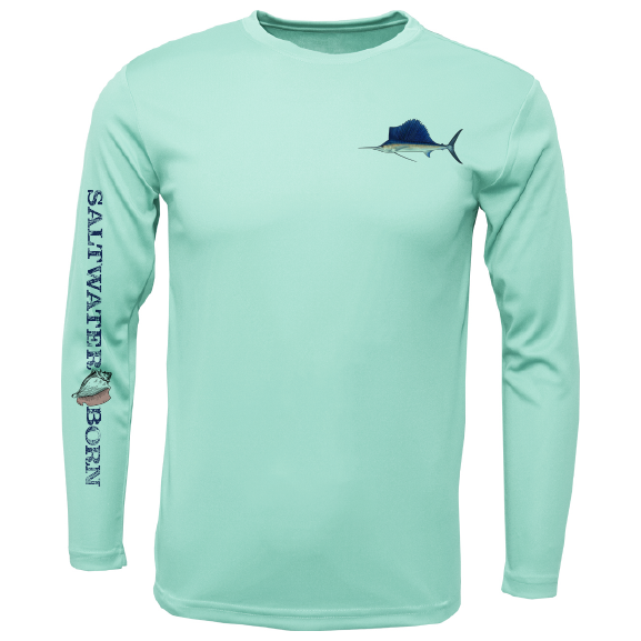 Sailfish on Chest Long Sleeve UPF 50+ Dry-Fit Shirt
