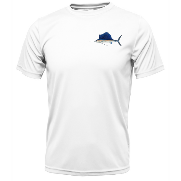 Sailfish on Chest Short Sleeve UPF 50+ Dry-Fit Shirt