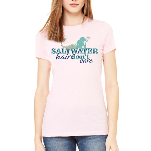 """Saltwater Hair Don't Care"" Tee"