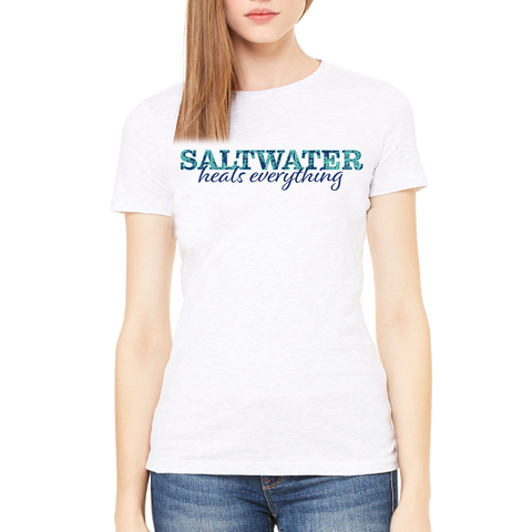 """Saltwater Heals Everything"" Tee"