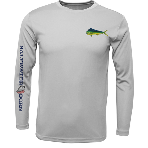 SK Mahi on Chest Long Sleeve UPF 50+ Dry-Fit Shirt