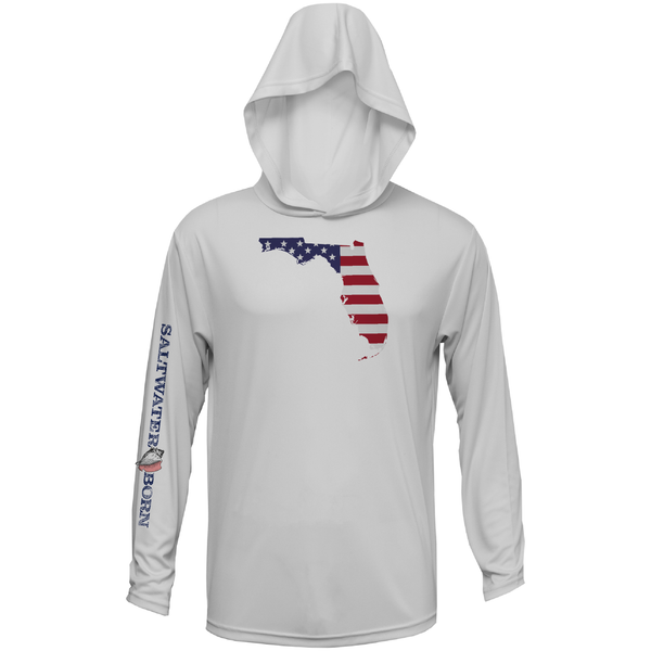 Florida USA Boys and Girls Long Sleeve UPF 50+ Dry-Fit Hoody