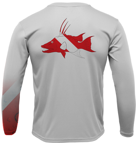 Siesta Key Hogfish Diver with Scuba Sleeve LS UPF 50+ Dry-Fit Shirt
