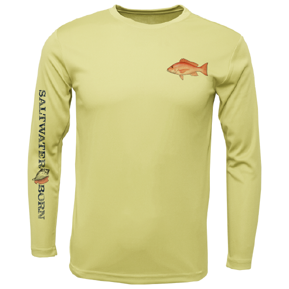 SK Snapper on Chest Long Sleeve UPF 50+ Dry-Fit Shirt