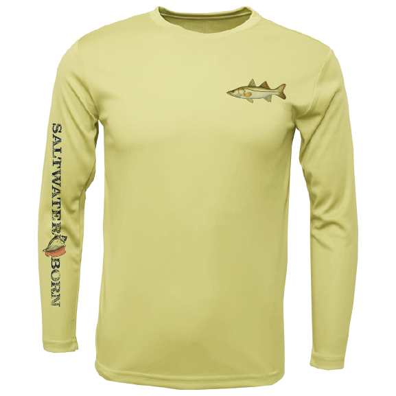 Snook on Chest Long Sleeve UPF 50+ Dry-Fit Shirt
