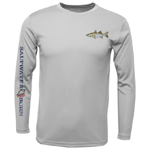SK Snook on Chest Long Sleeve UPF 50+ Dry-Fit Shirt