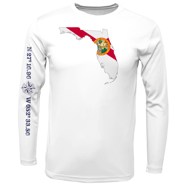 Siesta Key State of Florida Long Sleeve UPF 50+ Dry-Fit Shirt
