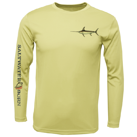 SK Swordfish on Chest Long Sleeve UPF 50+ Dry-Fit Shirt