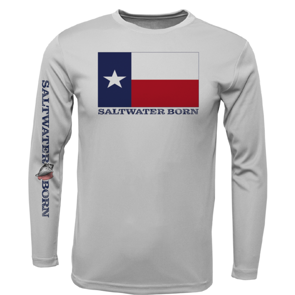 Texas Flag Long Sleeve UPF 50+ Dry-Fit Shirt