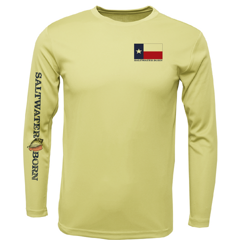 Texas Redfish Long Sleeve UPF 50+ Dry-Fit Shirt