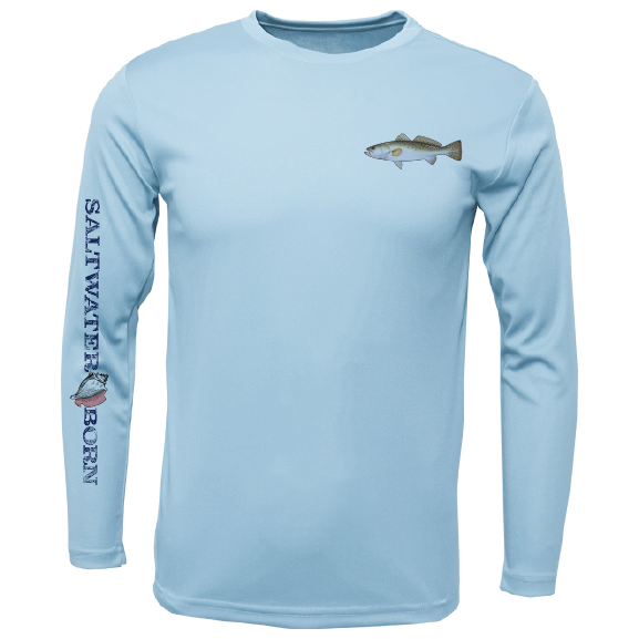 Trout on Chest Long Sleeve UPF 50+ Dry-Fit Shirt