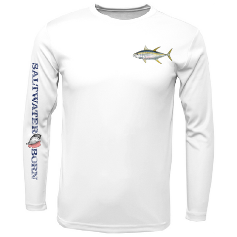 Yellowfin Tuna on Chest Long Sleeve UPF 50+ Dry-Fit Shirt
