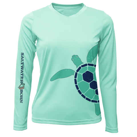 Saltwater Born Turtle Wrap Long Sleeve UPF 50+ Dry-Fit Shirt