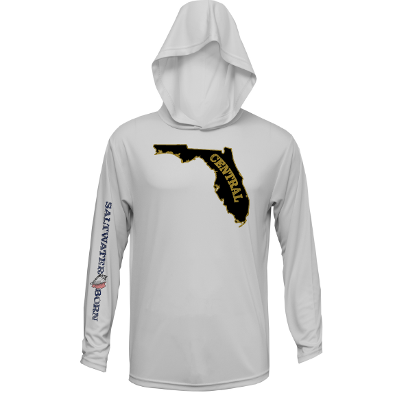Black and Gold Long Sleeve UPF 50+ Dry-Fit Hoody