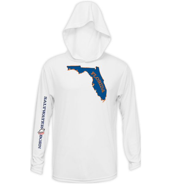 Orange and Blue Long Sleeve UPF 50+ Dry-Fit Hoody