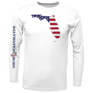 Florida USA Boys Long Sleeve UPF 50+ Dry-Fit Shirt