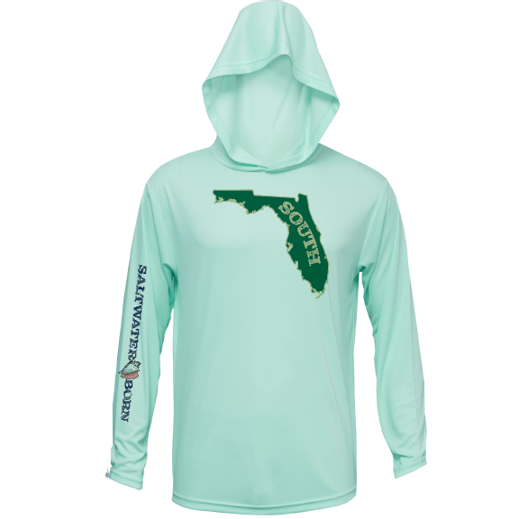 Green and Gold Long Sleeve UPF 50+ Dry-Fit Hoody