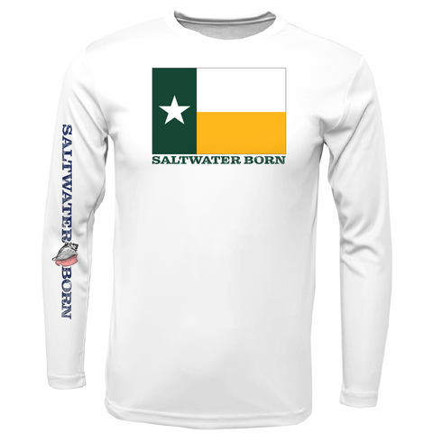 Green and Gold Texas Long Sleeve UPF 50+ Dry-Fit Shirt