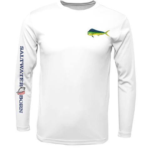 Mahi on Chest Boys Long Sleeve UPF 50+ Dry-Fit Shirt