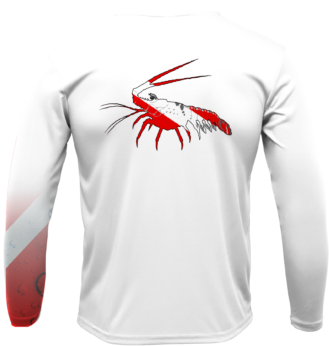 Key West Lobster with Scuba Sleeve LS UPF 50+ Dry-Fit Shirt