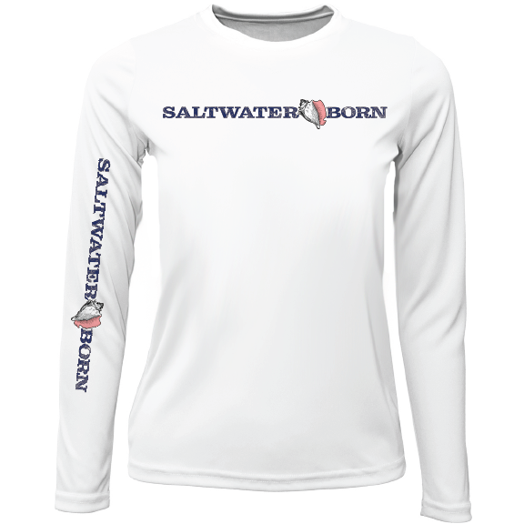 Saltwater Born Girls Long Sleeve UPF 50+ Dry-Fit Shirt