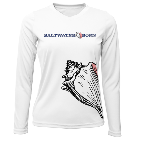 Saltwater Born Wrap Conch Long Sleeve UPF 50+ Dry-Fit Shirt