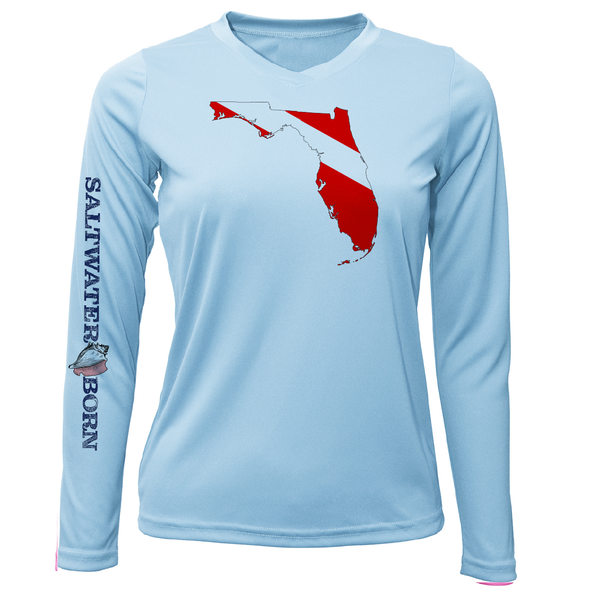 Florida Diver Long Sleeve UPF 50+ Dry-Fit Shirt