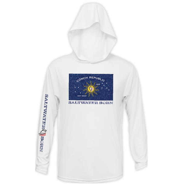 Conch Republic Boys  Long Sleeve UPF 50+ Dry-Fit Hoody