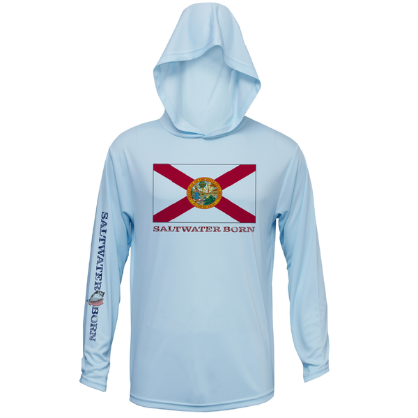 Florida Flag Boys and Girls Long Sleeve UPF 50+ Dry-Fit Hoody