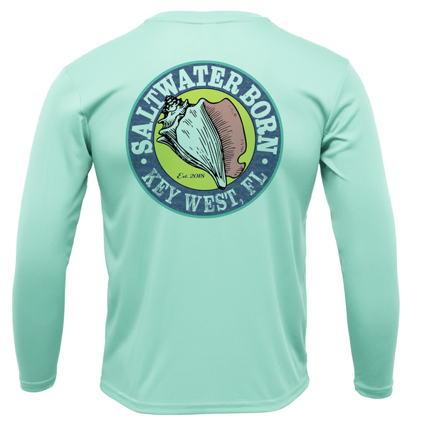 Yellowtail on Chest Long Sleeve UPF 50+ Dry-Fit Shirt