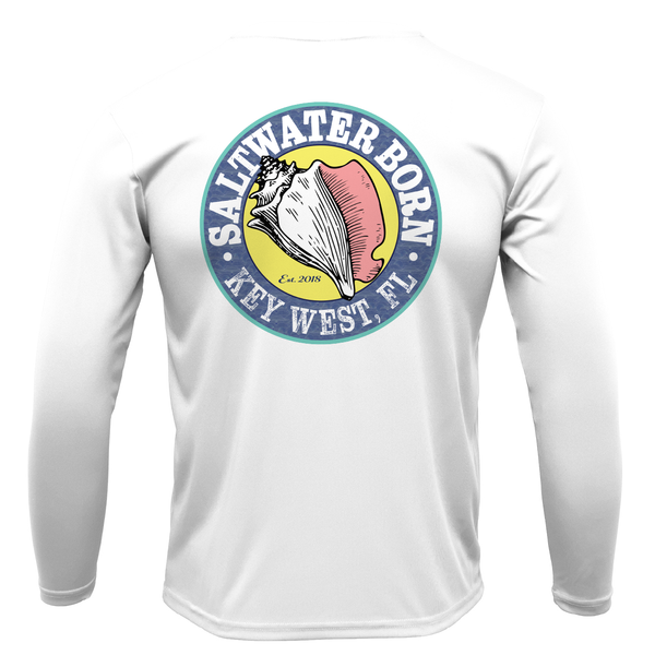 Florida USA with Key West Logo Long Sleeve UPF 50+ Dry-Fit Shirt