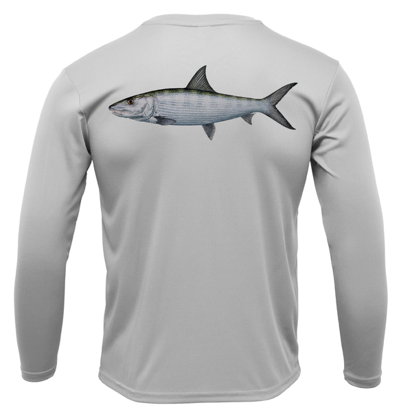 USA Bonefish Long Sleeve UPF 50+ Dry-Fit Shirt
