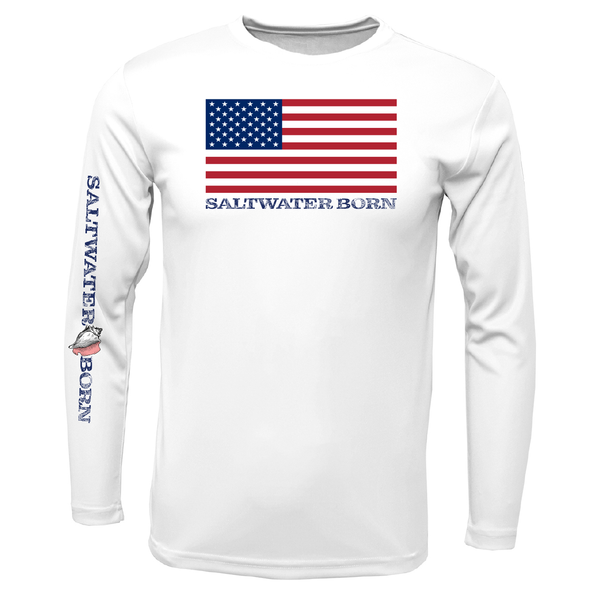 USA Born Long Sleeve UPF 50+ Dry-Fit Shirt