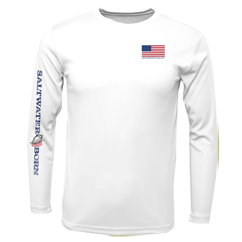 USA Blacktip Long Sleeve UPF 50+ Dry-Fit Shirt