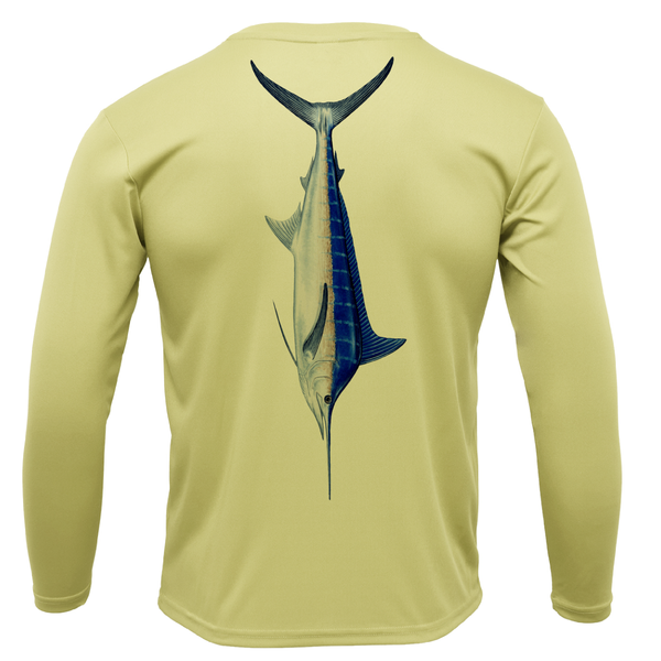 Blue Marlin Boys Long Sleeve UPF 50+ Dry-Fit Shirt