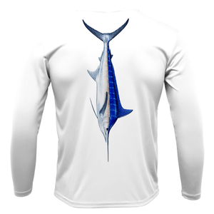 Blue Marlin Long Sleeve UPF 50+ Dry-Fit Shirt