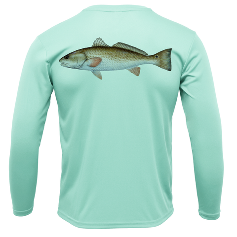 Siesta Key Redfish Long Sleeve UPF 50+ Dry-Fit Shirt