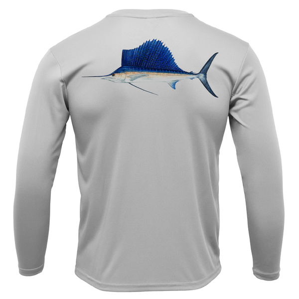 Siesta Key Sailfish Long Sleeve UPF 50+ Dry-Fit Shirt
