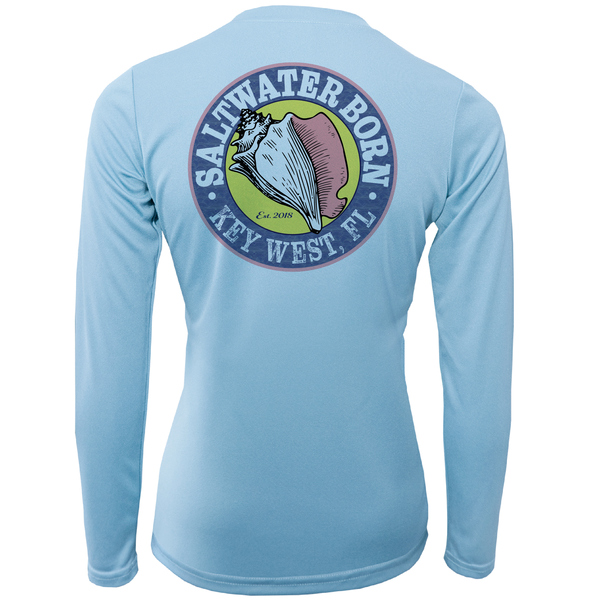 """Saltwater Heals Everything"" Long Sleeve UPF 50+ Dry-Fit Shirt"