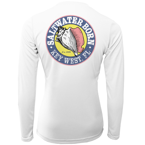"""Crabby But Cute"" Girls Long Sleeve UPF 50+ Dry-Fit Shirt"