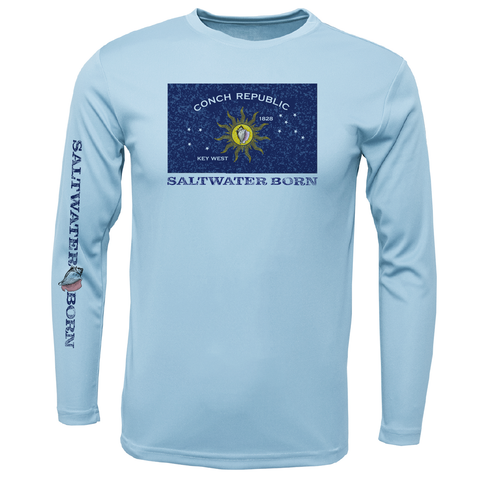 Conch Republic Boys Long Sleeve UPF 50+ Dry-Fit Shirt