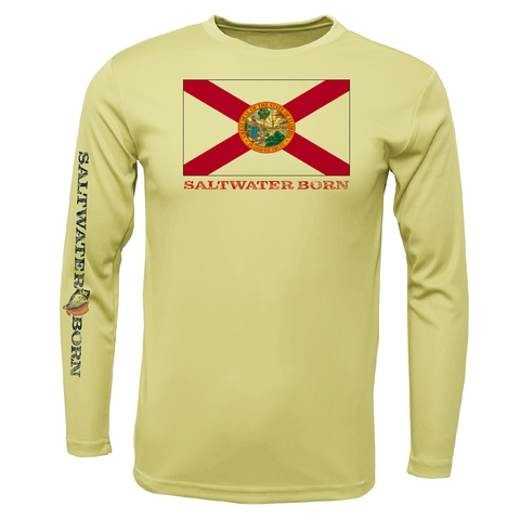 Florida Flag Boys Long Sleeve UPF 50+ Dry-Fit Shirt
