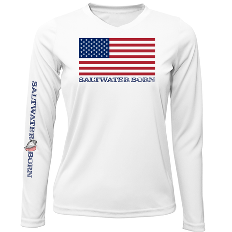 American Flag Long Sleeve UPF 50+ Dry-Fit Shirt