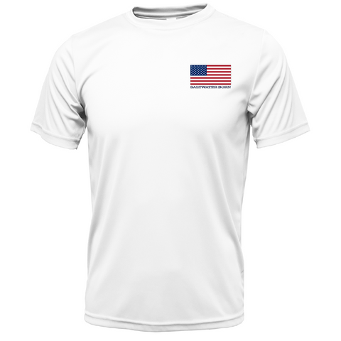 USA Yellowtail Short Sleeve UPF 50+ Dry-Fit Shirt