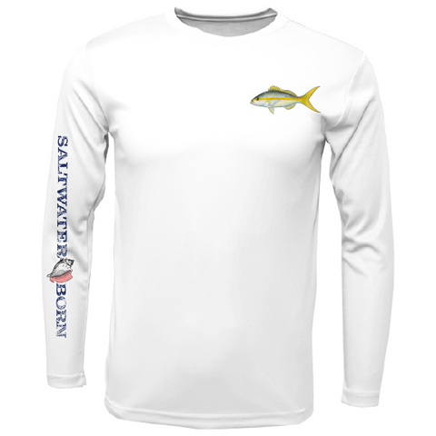 SK Yellowtail on Chest Long Sleeve UPF 50+ Dry-Fit Shirt