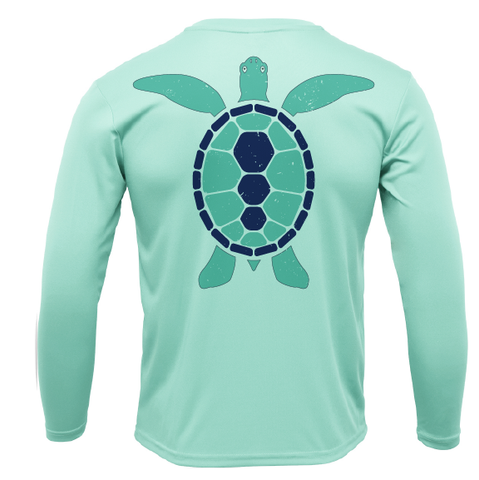 Saltwater Born Turtle Long Sleeve UPF 50+ Dry-Fit Shirt